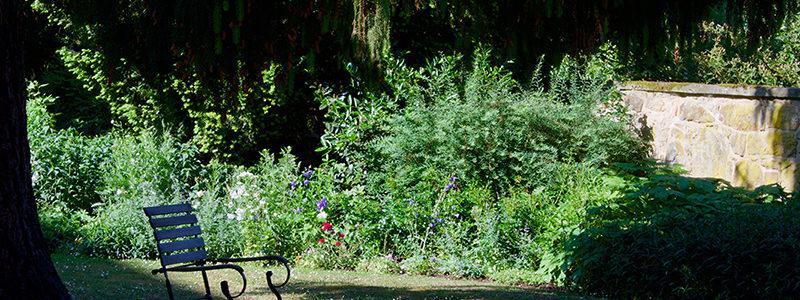 Stuhl im Klostergarten