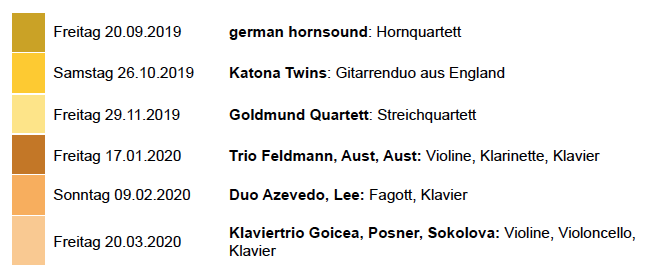 Konzerte Saison 2019-20